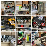 Shelf Cleanout - Hardware, Hand Tools, Dewalt Drill & More.  See Photos