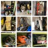 Tool Box, Plumbing Parts, Metal Cabinet, Tools & More.  See Photos