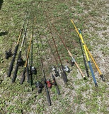 Great Group of Fishing Pools & Reels.  See Photos.