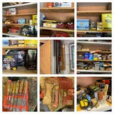 Garage Cabinet Cleanout - Lighting Tools, Hardware & More