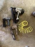 3 Air Tools - Framing Nailer, Brad Nailer, Stapler & Air Line.