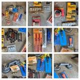 Group of Tools - Craftsman Tape Line, Staples, Screwdriver Set & More