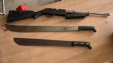 Air Rifle 760 Pump Rifle & 2 Machetes