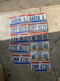 Group of License Plates
