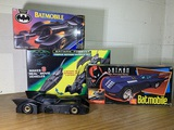Group of Vintage Batmobile Toys by Kenner