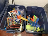 2 Totes Full of Toys - View Master, Pez & More