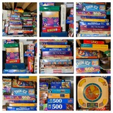 Large Group of VIntage Board Games & Puzzles.  See Photos.