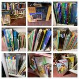 Large Group of Vintage Children's Books, Easel & More