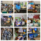 2 Shelves & Contents - New Items, Cleaning Supplies, Holiday Items & More