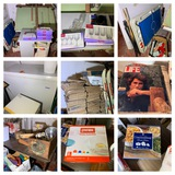 Drafting Table, Fisher Price Game, Skies, Life Magazines, Trunk, Freezer & More