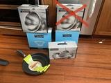 New Kitchen Items - 3 Colanders, Food Network Pans & Pan Set