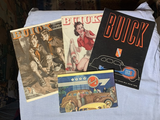 Vintage Buick Brochure and Magazines 1946, 1940
