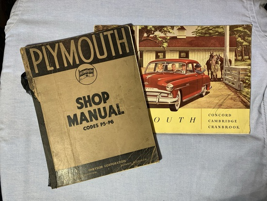 Early Vintage Plymouth Shop Manual & Vintage Plymouth Brochure