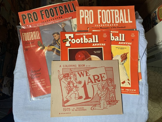 Vintage Pro Football Magazines & 1975  Coloring Book Ohio State