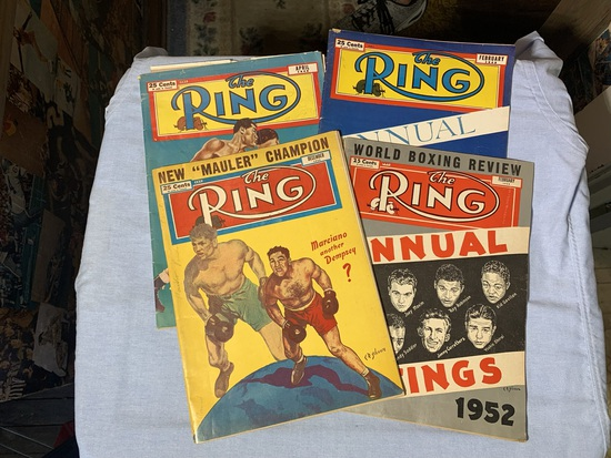 """(2) 1949, 1952 & 1953 """"The Ring"""" Magazines"""