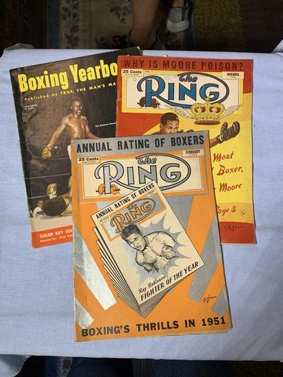 "(2) 1952 ""The Ring"" Magazines & 1952 Boxing Yearbook Magazine"