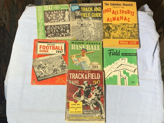 Vintage Sports Magazines Track & Field, Major League Baseball, Field Rules & Records
