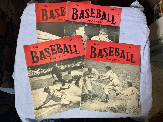 Early Vintage Baseball Magazines
