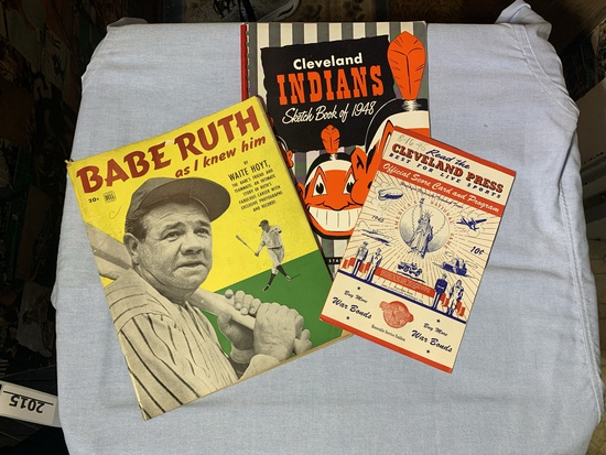 DELL Babe Ruth as I Knew Him Magazine, Cleveland Press Official Scorecard & Program