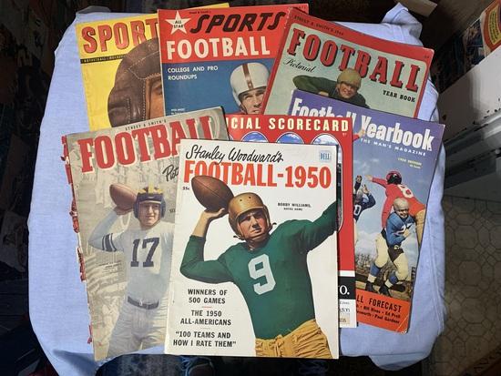 Early Vintage Football Magazines 1950, 1943, 1944