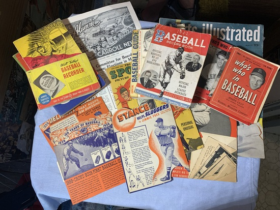 Great Group of Vintage Baseball Magazines & Comic Book
