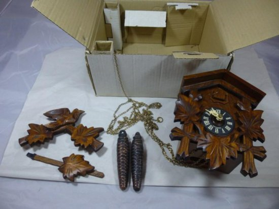 Vintage German Cuckoo Clock W/weights In Box