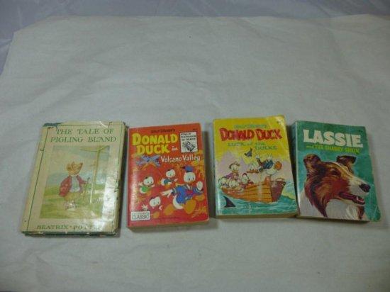 Group Lot Of Four Vintage Kids Books Inc. Disney