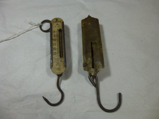 Pair Of Small Antique Scales Inc. Brass