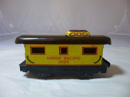 Vintage Tin Union Pacific Toy Train Car