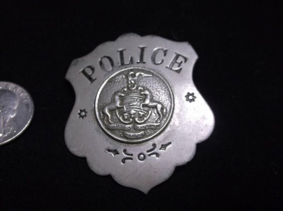Antique Old Time Police Badge W/official Seal