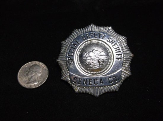 Seneca County Ohio Special Deputy Sheriff Police Badge