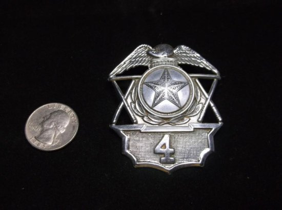 Antique Ohio Police Badge W/statehouse Rotunda #4 Star