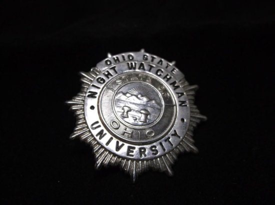 Night Watchman - Ohio State University Vintage Badge