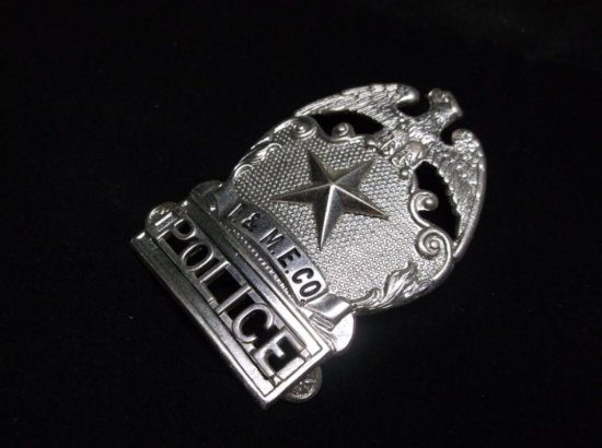 Vintage Industrial Manufacturer Police Security Badge