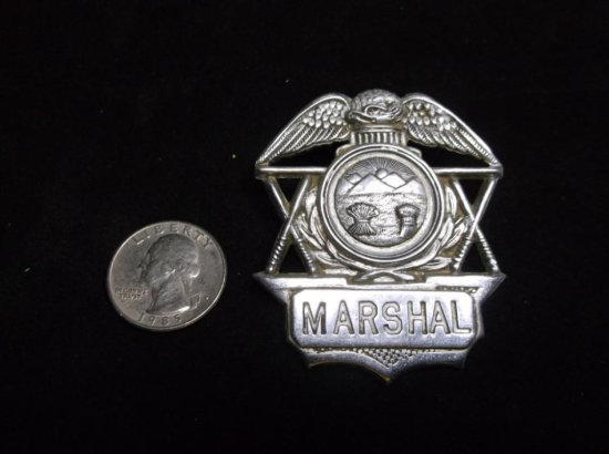 Antique Ohio Marshal Police Badge - Nice