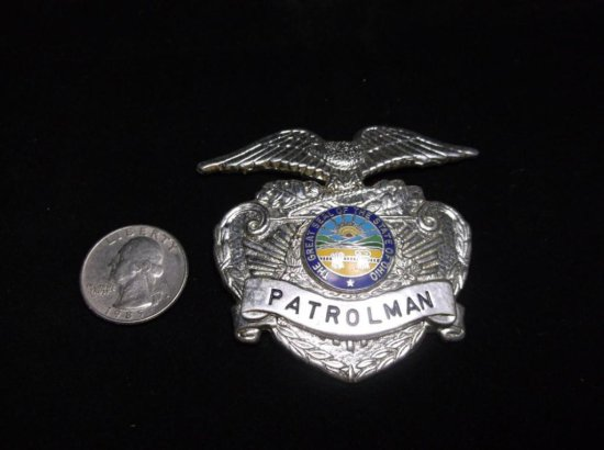 Vintage Ohio Patrolman Police Badge