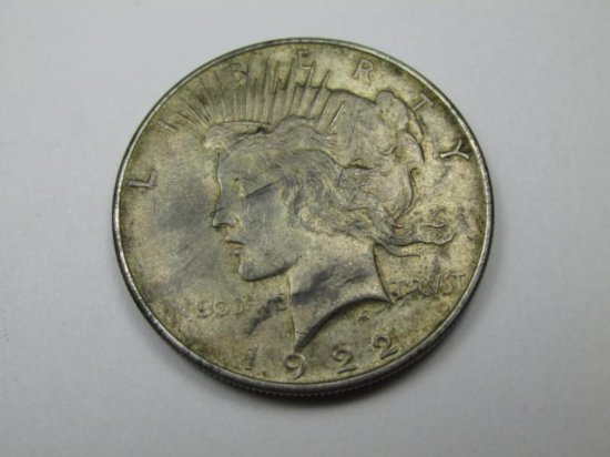 1922 Peace Silver Dollar Coin
