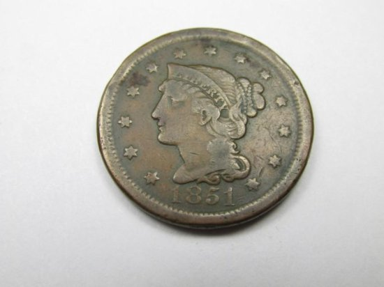 1851 Large Cent Coin