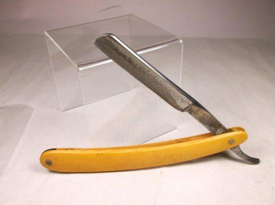 Antique Kuboshi Straight Razor W/celluloid Handle