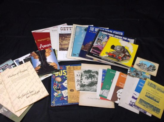 Group Lot Of Books And Ephemera Inc. Railroad, History