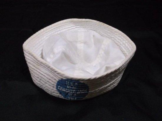 """real Cracker Jack Of A Sale"" Vintage Advertising Navy Hat"