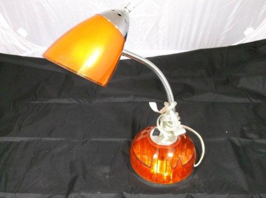 Orange Desk Lamp Organizer Combo
