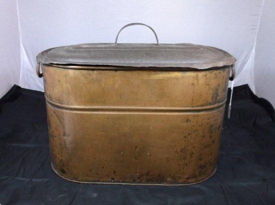 Large Vintage Copper Kettle With Lid.
