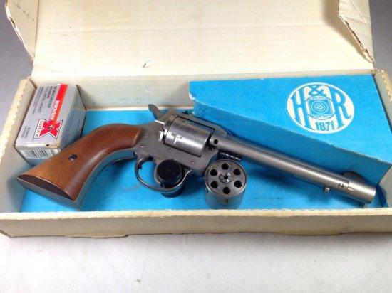 Vintage H&r 22 Magnum Model 650 In Box W/extra Cylinder