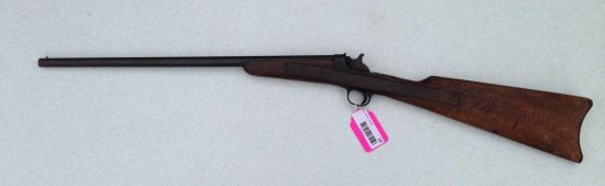 Antique Belgian Octagonal Barrel 22 Long Rifle