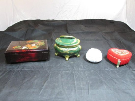 Group of 4 music jewelry boxes