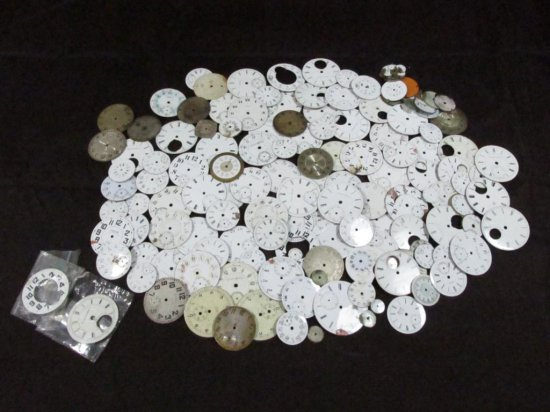 Gigantic Lot Of Porcelain Pocket Watch Dials