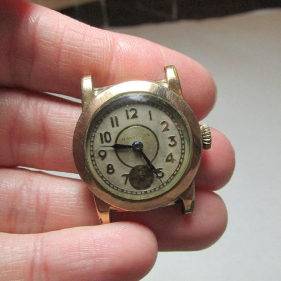 Unusual Antique Gold Filled Hamilton Men's Watch