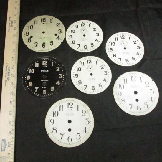 Group Of 7 Antique Clock Dials