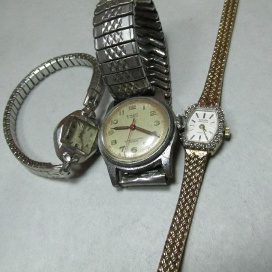 Two Vintage Ladies Watches Plus Men's Mechanical